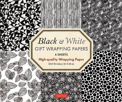Black and White Gift Wrapping Papers - 6 sheets : 6 Sheets of High-Quality 18 x 24 inch Wrapping Paper