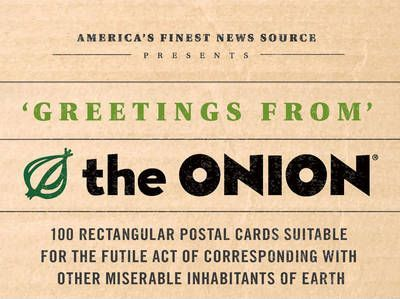 """Greetings from the """"Onion"""" 100 Collectible Post Cards"""