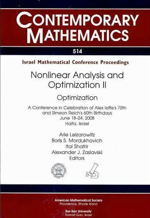 Nonlinear Analysis and Optimization II