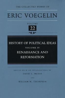History of Political Ideas (Volume 4)  Renaissance and Reformation