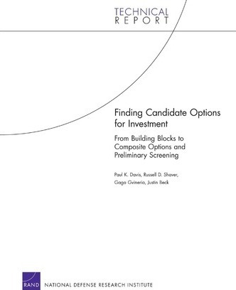 Finding Candidate Options for Investment: From Building Blocks to Composite Options and Preliminary Screening