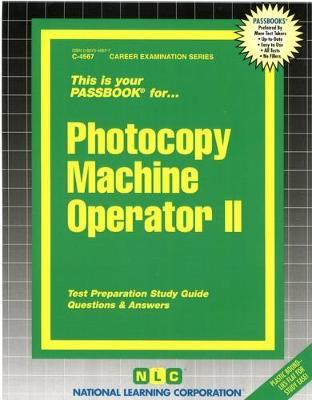 Photocopy Machine Operator II