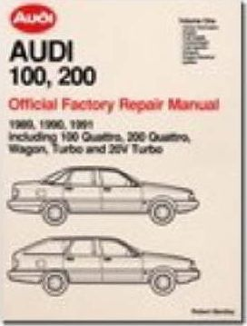 audi 100 200 official factory repair manual 1989 91 pt 1 audi rh bookdepository com audi 100 service manual audi 100 repair manual