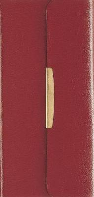 NKJV, Checkbook Bible, Compact, Bonded Leather, Burgundy, Wallet Style, Red Letter Edition : Holy Bible, New King James Version