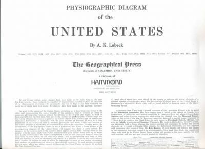 Physiographic Diagram of the United States
