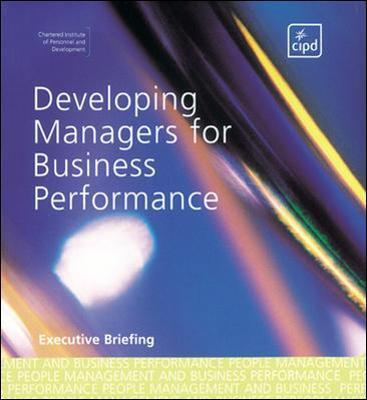 Developing Managers for Business Performance
