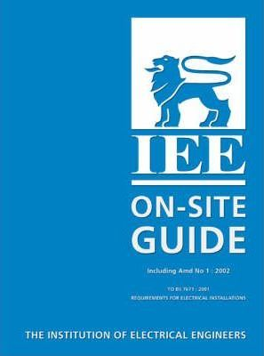 IEE ON SITE GUIDE BS 7671 EBOOK DOWNLOAD