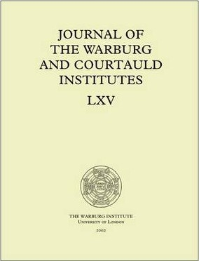 Journal of the Warburg and Courtauld Institutes, v. 65 (2002)