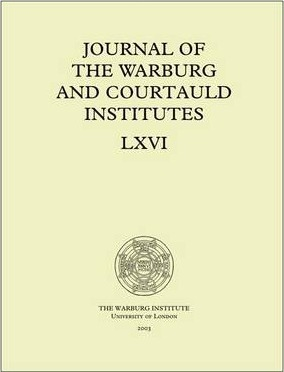 Journal of the Warburg and Courtauld Institutes, v. 66 (2003)