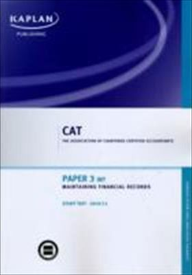 Paper 3 (INT) Maintaining Financial Records - Study Text: Paper 3 (INT)