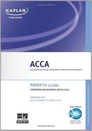 ACCA F4 Corporate and Business Law Cl (glo) - Complete Text 2011