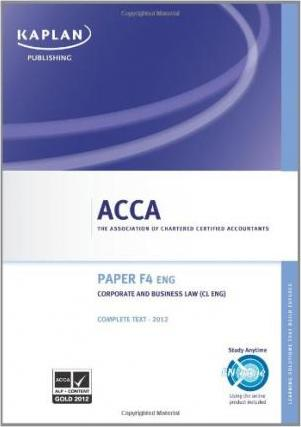 F4 Corporate and Business Law CL (UK) - Complete Text