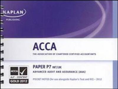 P7 Advanced Audit and Assurance AAA (INT/UK) - Pocket Notes
