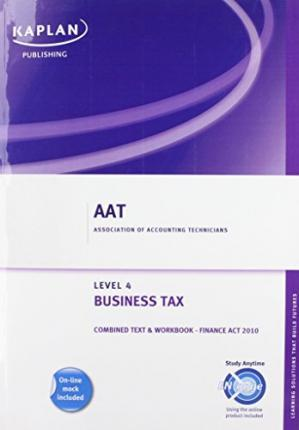 Business Tax - Combined Text and Workbook 2010