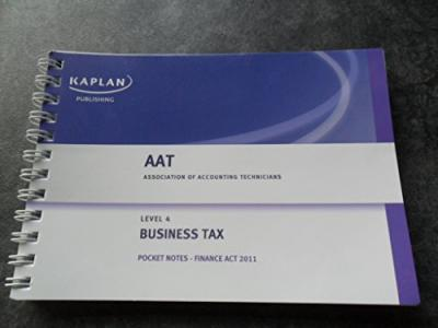 Business Tax (FA 2011) - Pocket Notes