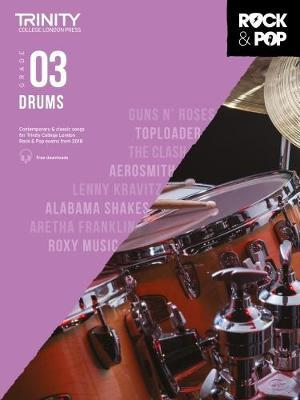 Trinity College London Rock & Pop 2018 Drums Grade 3 CD Only