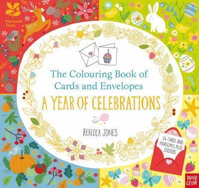 National Trust The Colouring Book Of Cards And Envelopes A Year Celebrations