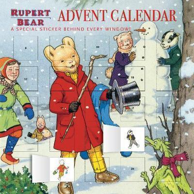 Rupert and the Snowman advent calendar (with stickers)
