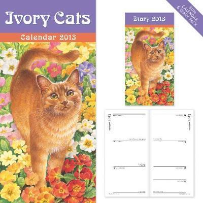 Ivory Cats slim calendar and diary pack 2013