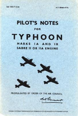 Air Ministry Pilot's Notes: Hawker Typhoon IA and IB