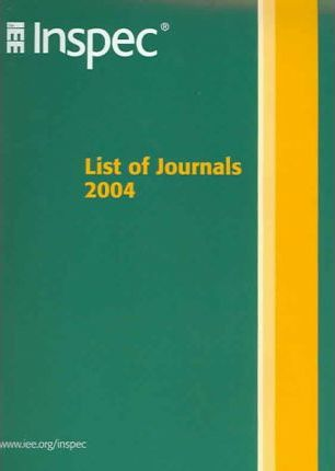Inspec List of Journals and Other Serial Sources 2004