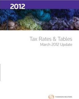 Tax Rates and Tables 2012