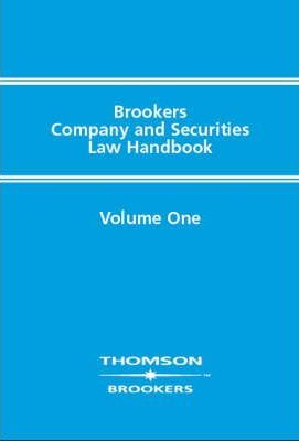 Brookers Company and Securities Law Handbook