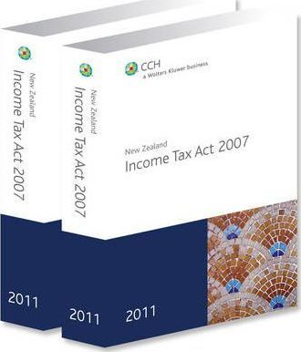 New Zealand Income Tax Act 2007 2011