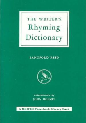 Writer's Rhyming Dictionary