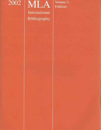 MLA International Bibliography of Books and Articles on the Modern Languages and Literatures, 2002