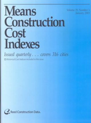 Means Construction Cost Indexes January 2003