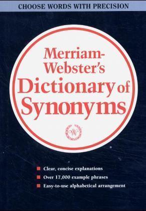 Webster S New Dictionary Of Synonyms Merriam Webster