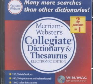 Collegiate Dict and Thesaurus El CD