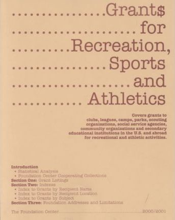 Grants for Recreation, Sports, and Athletics 2000-2001