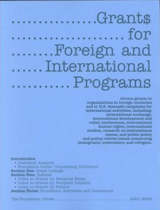 Grants for Foreign and International Programs 2001-2002