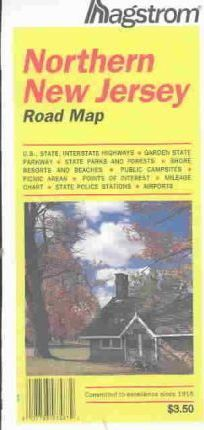 Hagstrom Northern New Jersey Road Map