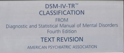 DSM-IV-TR Classification Sheet