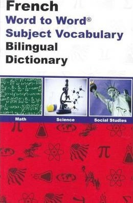 English-French & French-English Word-to-Word Dictionary  Maths, Science & Social Studies - Suitable for Exams