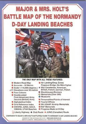 Major & Mrs Holt's Battle Map of Normandy D-Day Landing Beaches: Modern Map with D-Day Landing Beaches Details Overlaid: Part 7