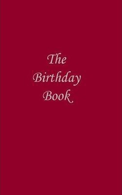 The Birthday Book (Dark Red Cover)