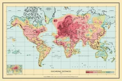 The Isochronic World Map: Travel Distances from London to ...
