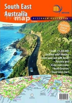 Map Of Australia Natural Features.South East Australia Map In Envelope Map Meridian 9780975039656