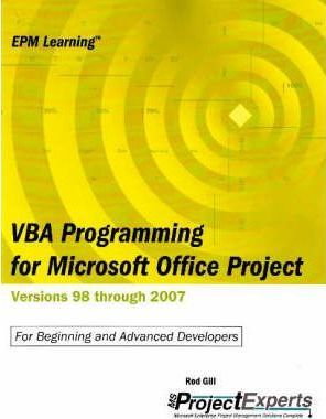VBA Programming for Microsoft Office Project