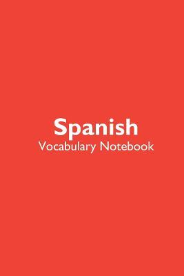 Spanish Vocabulary Notebook  Language Journal with simple, blue and teal notebook cover with 120 blank, lined pages.