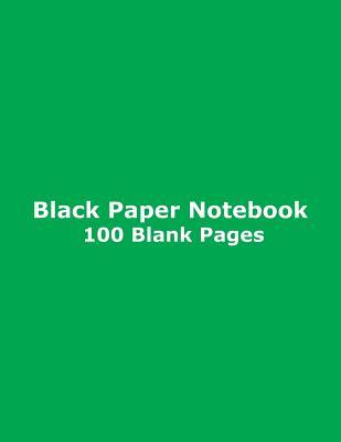 Black Paper Notebook - 100 Blank Pages  Blank Unruled / Unlined Paper, 8.5 x 11, 21.6 cm x 27.9 cm, for Journal, Diary, Sketch, Drawing, Doodle, Art, Lime Glossy Cover