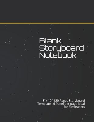 Blank Storyboard Notebook  8x 10 120 Pages Storyboard Template, 6 Panel per page ideal for filmmakers