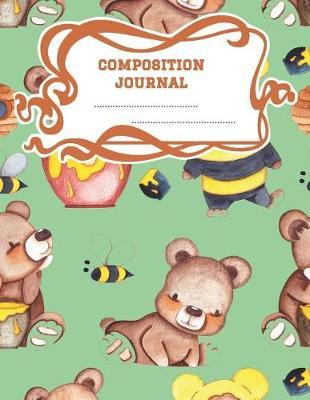 Composition Journal  A 8.5x11 Inch Matte Softcover Paperback Notebook Graph Paper Journal - 120 pages 4x4 Grids -Honey Bears Bumble Bees