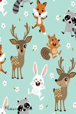 Password Book  Include Alphabetical Index With Cute Cartoon Animals Pattern Cover