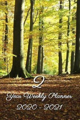 2 Year Weekly Planner 2020 - 2021  Forest wood - Agenda Planner For The Next Two Years + 20 pages addresses + 20 pages lines + 20 pages blanco