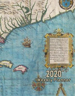 2020 Weekly Planner  Vintage Florida Map Cover